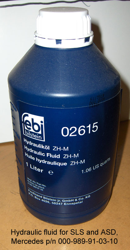Where is hydraulic pump for convt top on 39 95 e320 for Mercedes benz hydraulic fluid